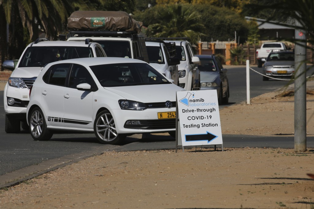 People queue in Windhoek, Namibia centre, to be tested for COVID-19 on Tuesday June 15, 2021. Africa is facing a devastating resurgence of COVID-19 in...