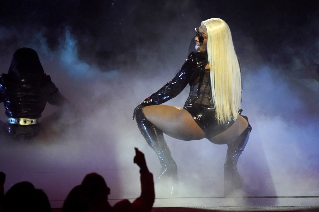Megan Thee Stallion performs at the BET Awards on Sunday, June 27, 2021, at the Microsoft Theater in Los Angeles. (AP Photo/Chris Pizzello)