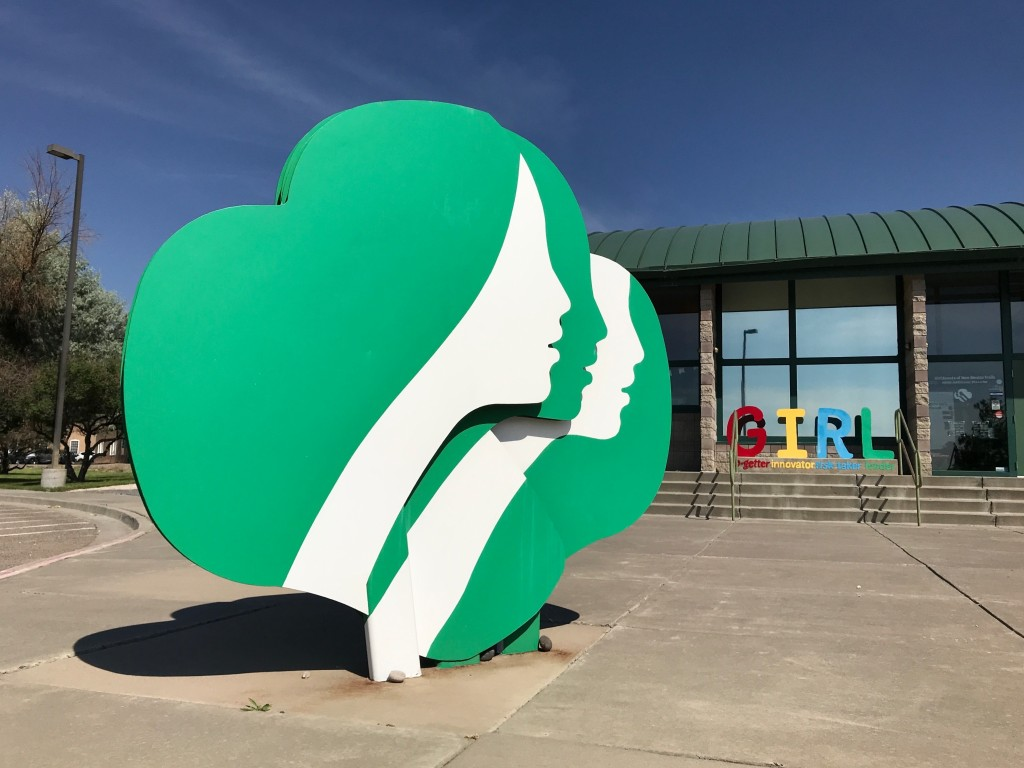 FILE - This June 7, 2021 file photo shows the headquarters of Girl Scouts of New Mexico Trails in Albuquerque, N.M. The Girl Scouts say their youth me...