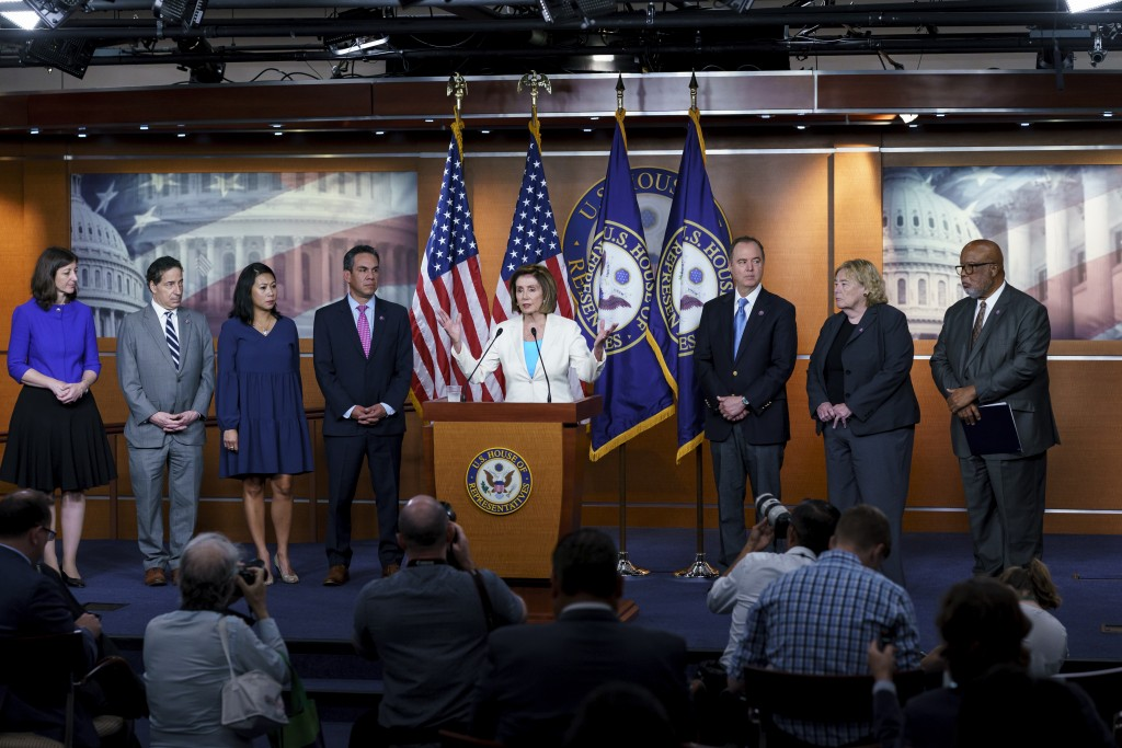 Speaker of the House Nancy Pelosi, D-Calif., announces Democratic appointments to a new select committee to investigate the violent Jan. 6 insurrectio...