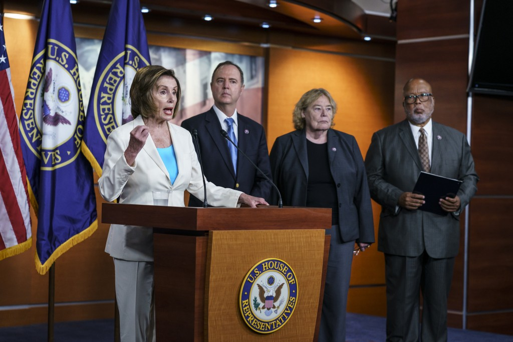 Speaker of the House Nancy Pelosi, D-Calif., announces her appointments to a new select committee to investigate the violent Jan. 6 insurrection at th...