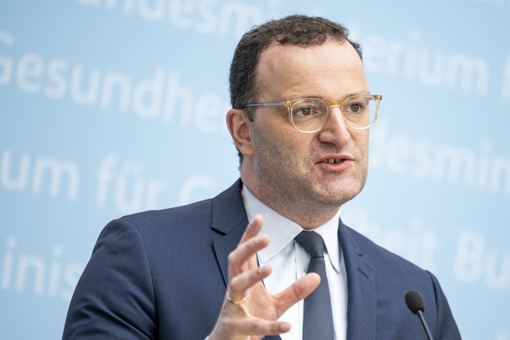 Jens Spahn (CDU), Germany's Federal Minister of Health, comments at a press conference on the consequences of the STIKO recommendation to administer a...