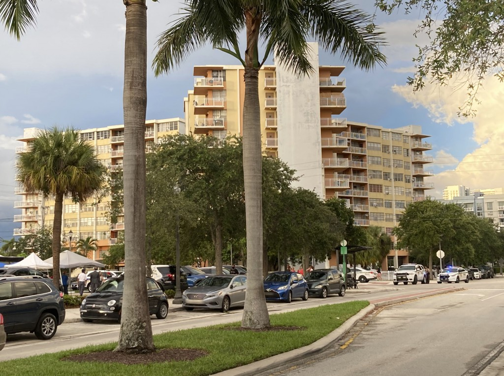 This photo shows the 156-unit Crestview Towers, Friday, July 2, 2021 in North Miami Beach, Fla. The city of North Miami Beach ordered the evacuation o...