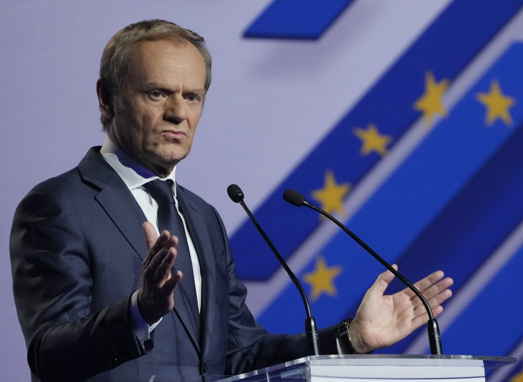 Former European Union leader and Poland's ex-prime minister, Donald Tusk, tells a congress of Poland's opposition Civic Platform party that he is retu...