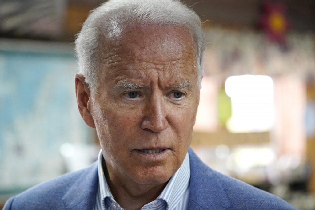 President Joe Biden visits the store at King Orchards fruit farm Saturday, July 3, 2021, in Central Lake, Mich. (AP Photo/Alex Brandon)