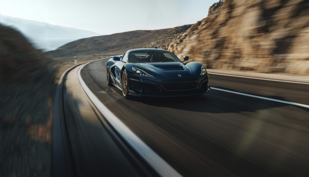 Life in the fast lane: A Rimac Nevera electric car.