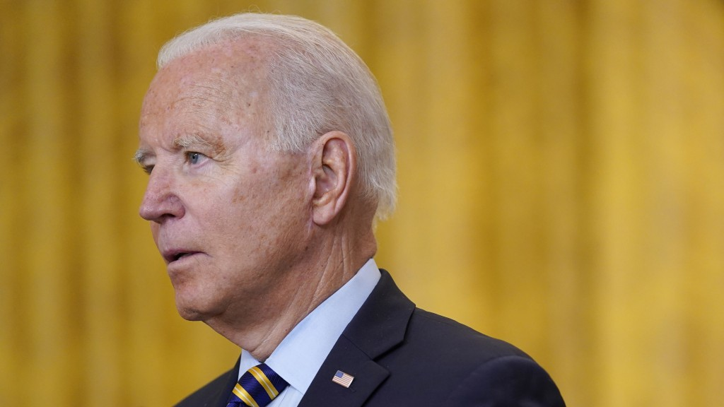 President Joe Biden speaks about the American troop withdrawal from Afghanistan, in the East Room of the White House, Thursday, July 8, 2021, in Washi...