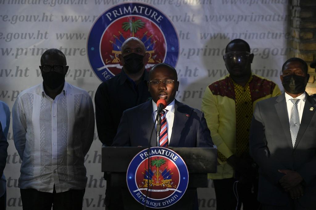 海地代理總理克勞德・喬瑟夫(Claude Joseph)11日舉行記者會報告調查最新發展(美聯社圖片)