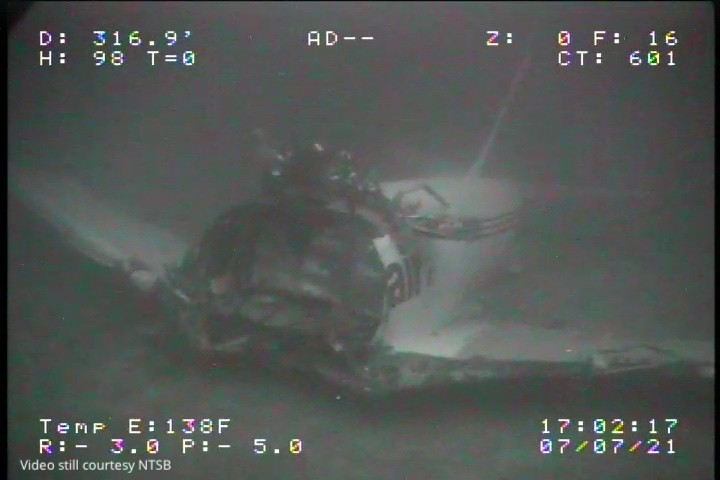 ADDS ADDITIONAL SOURCE INFORMATION - In this Wednesday, July 7, 2021, image from video provided by Sea Engineering, Inc. via the National Transportati...