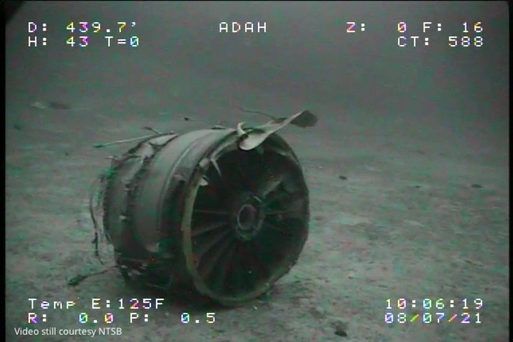ADDS ADDITIONAL SOURCE INFORMATION - In this Thursday, July 8, 2021, image from video provided by Sea Engineering, Inc. via the National Transportatio...