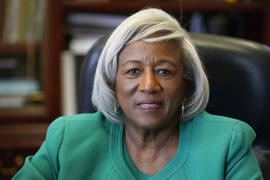 Dr. Paulette Dillard, President of Shaw University, a private Black university is shown on campus in Raleigh, N.C., Monday, July 12, 2021. Two high-pr...