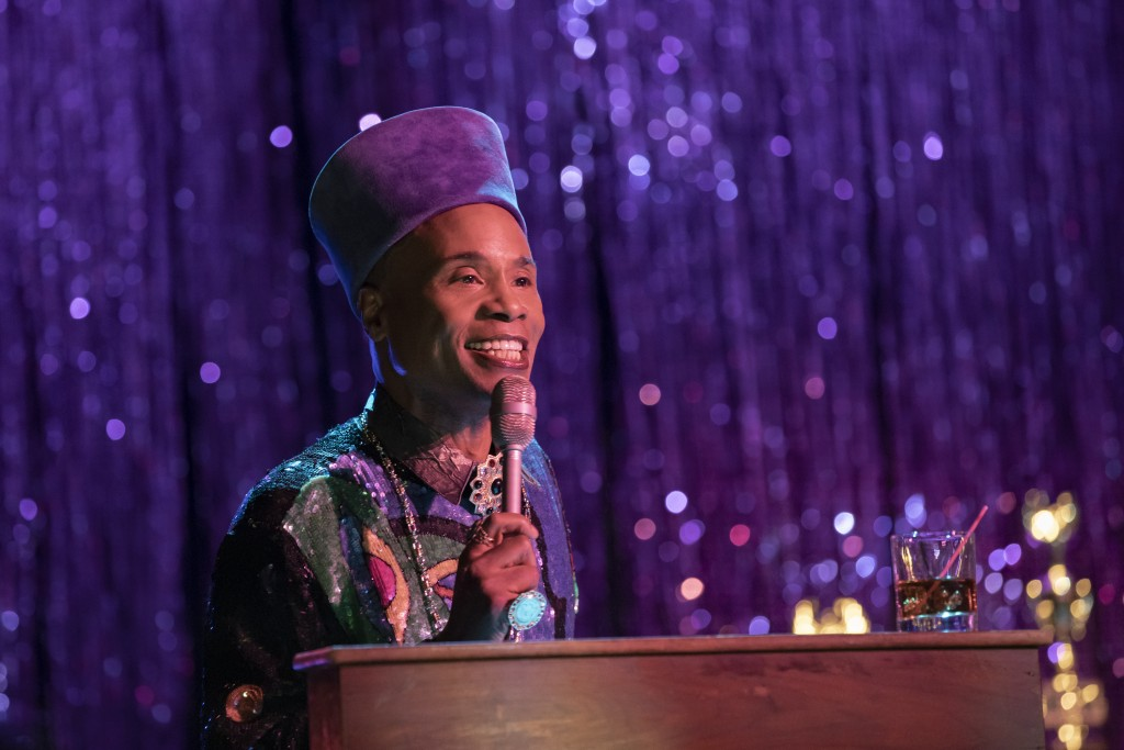 """This image released by FX shows Billy Porter as Pray Tell in a scene from """"Pose."""" Porter was nominated for an Emmy Award for outstanding leading actor..."""