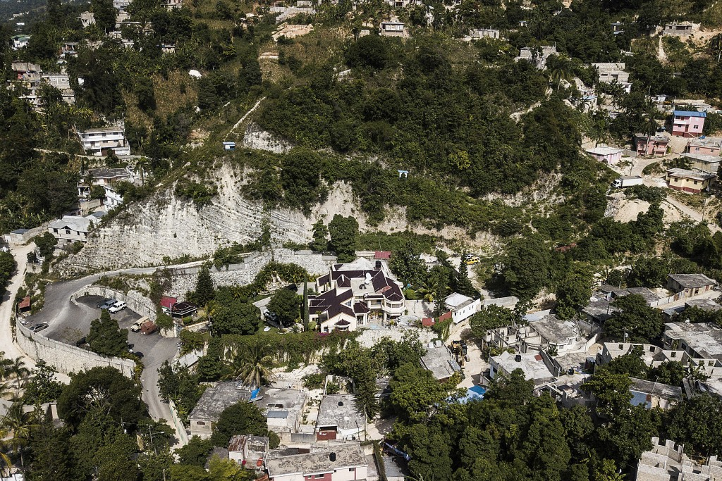 A view of the private residence of President Jovenel Moise in Port-au-Prince, Haiti, Tuesday, July 13, 2021. Moise was killed and his wife wounded dur...