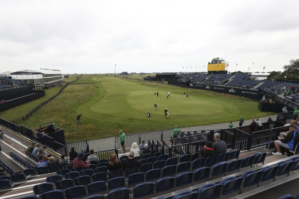 A general view of the 18th green and fairway at Royal St George's golf course Sandwich, England, where British Open Golf Championship, is taking place...