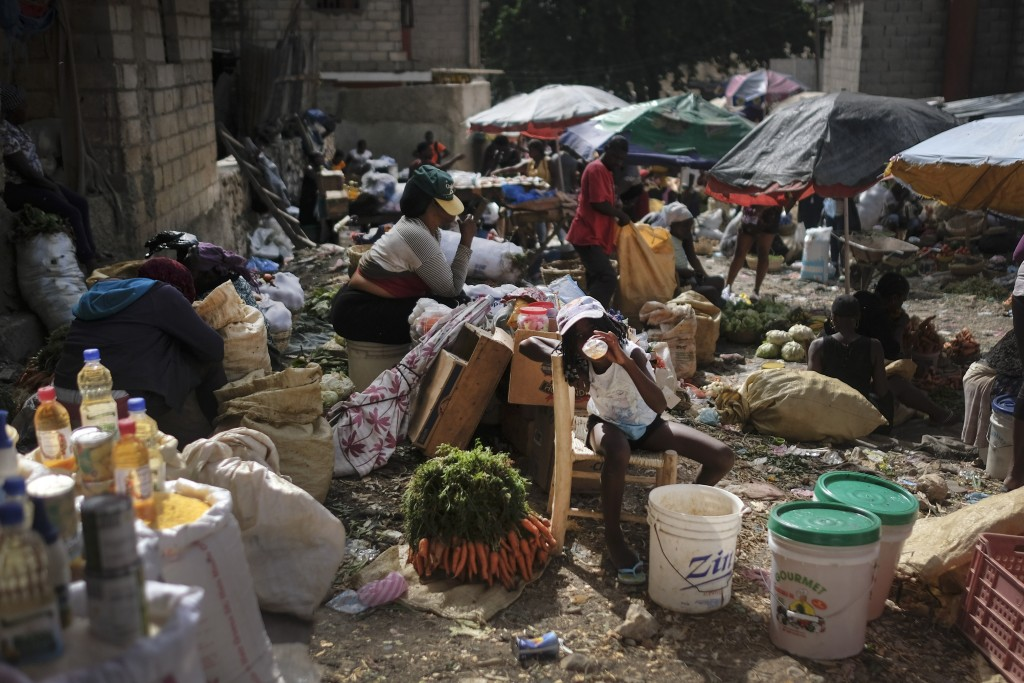 Vendors work at the Maché Tèt Dlo market in Port-au-Prince, Haiti, Tuesday, July 13, 2021. President Jovenel Moise was assassinated in his home on Jul...
