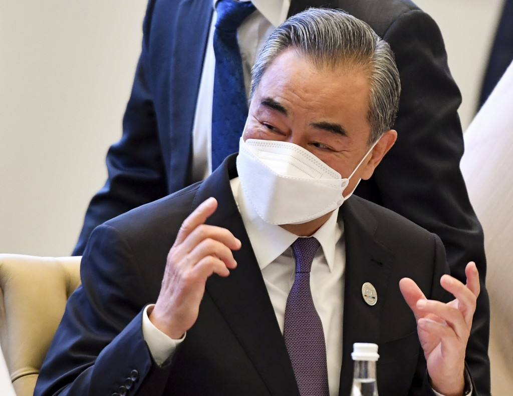 Chinese Foreign Minister Wang Yi at the Central and South Asia 2021 conference in July. (AP Photo)