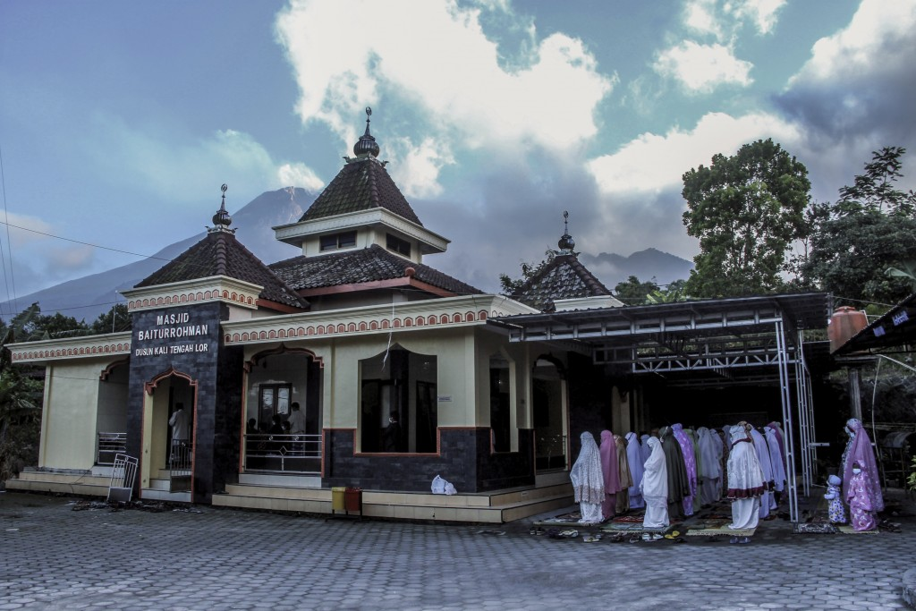 Indonesian Muslims perform Eid al-Adha prayers at a mosque in Yogyakarta, Indonesia Tuesday, July 20, 2021. Muslims across Indonesia marked a grim Eid...