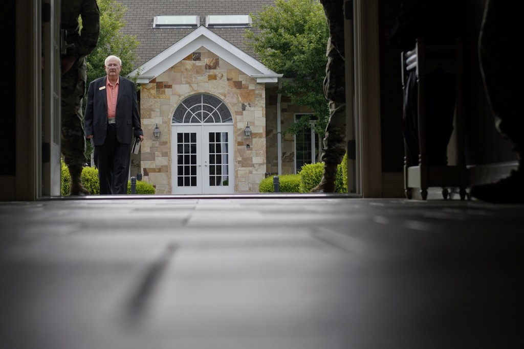 Air Force Mortuary Affairs Operations Senior Chaplain David Sparks arrives at Dover Fisher House at Dover Air Force Base, Del., Monday, June 21, 2021....