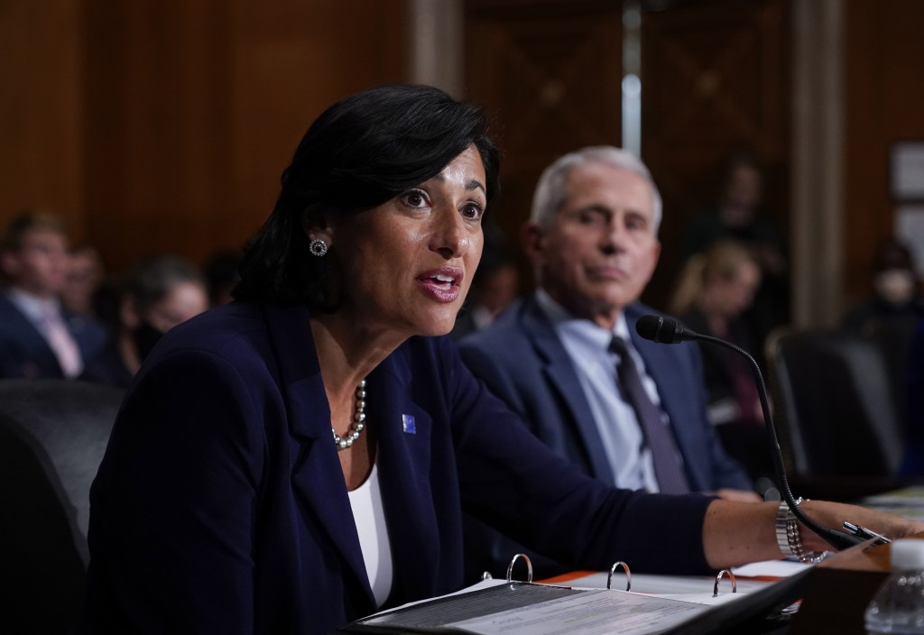 Dr. Rochelle Walensky, director of the Centers for Disease Control and Prevention (CDC), and top infectious disease expert Dr. Anthony Fauci, testify ...