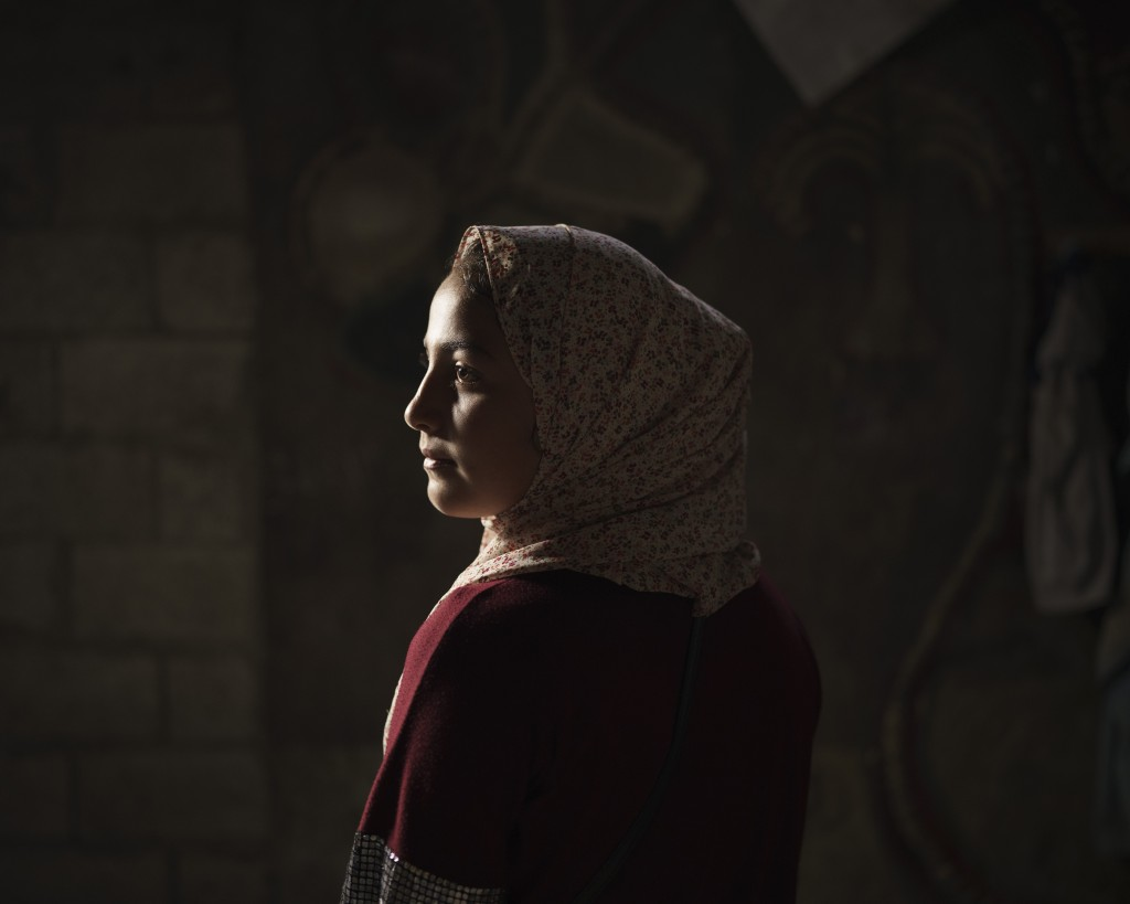 Lama Sihweil, 14, poses for a portrait in her house in Beit Hanoun, northern Gaza Strip, Sunday, June 20, 2021. When the 2014 war broke out, Lama and ...