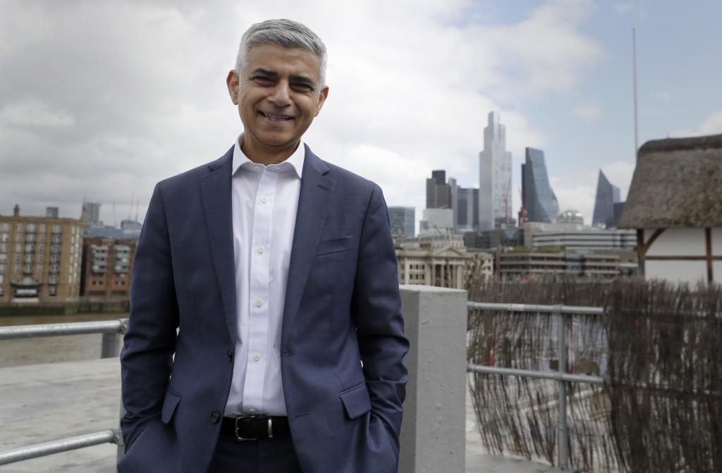 倫敦市長Sadiq Khan(美聯社圖片)