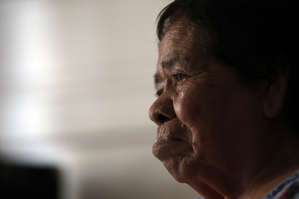 Francisca Perez, 84, sits on a wheelchair in her house in Chicago's Little Village neighborhood, Wednesday, June 30, 2021. She suffers from a heart co...