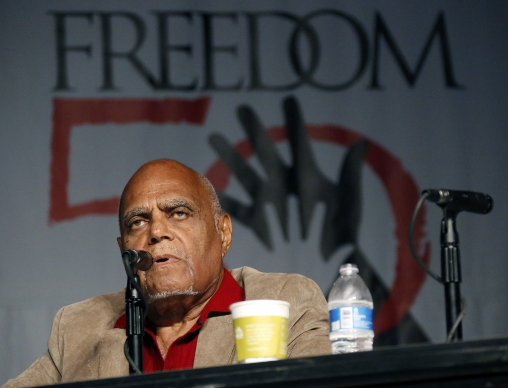 """FILE - In this June 26, 2014 file photo, Robert """"Bob"""" Moses, Student Nonviolent Coordinating Committee (SNCC) project director in 1964, discusses the ..."""