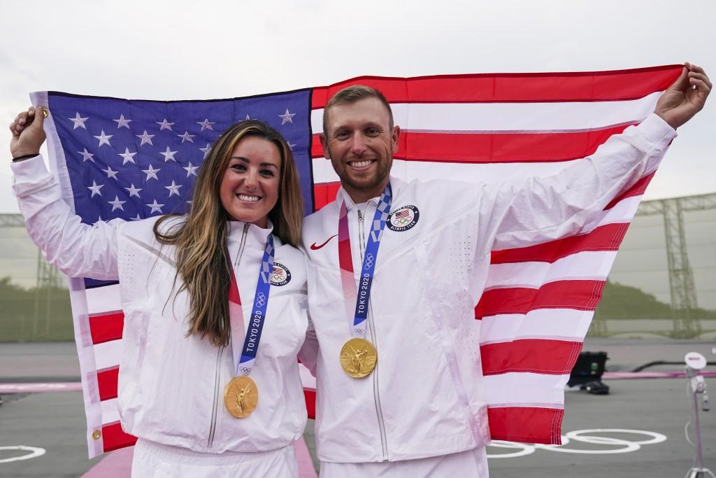 美國隊在2020東京奧運收穫39金、41銀、33銅共113面獎牌。(圖/美聯社)