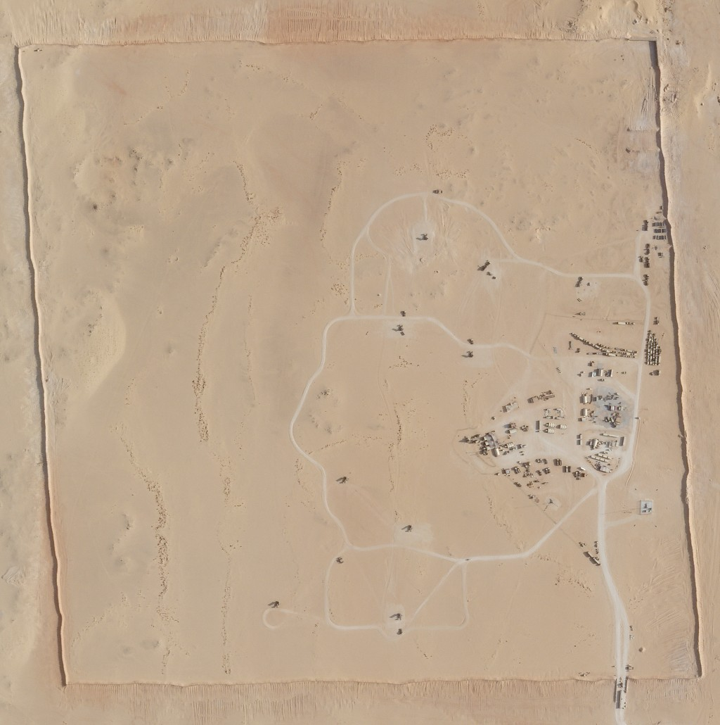 In this satellite photo provided by Planet Labs Inc., an area of Prince Sultan Air Base in Saudi Arabia sees Patriot missile batteries stationed with ...