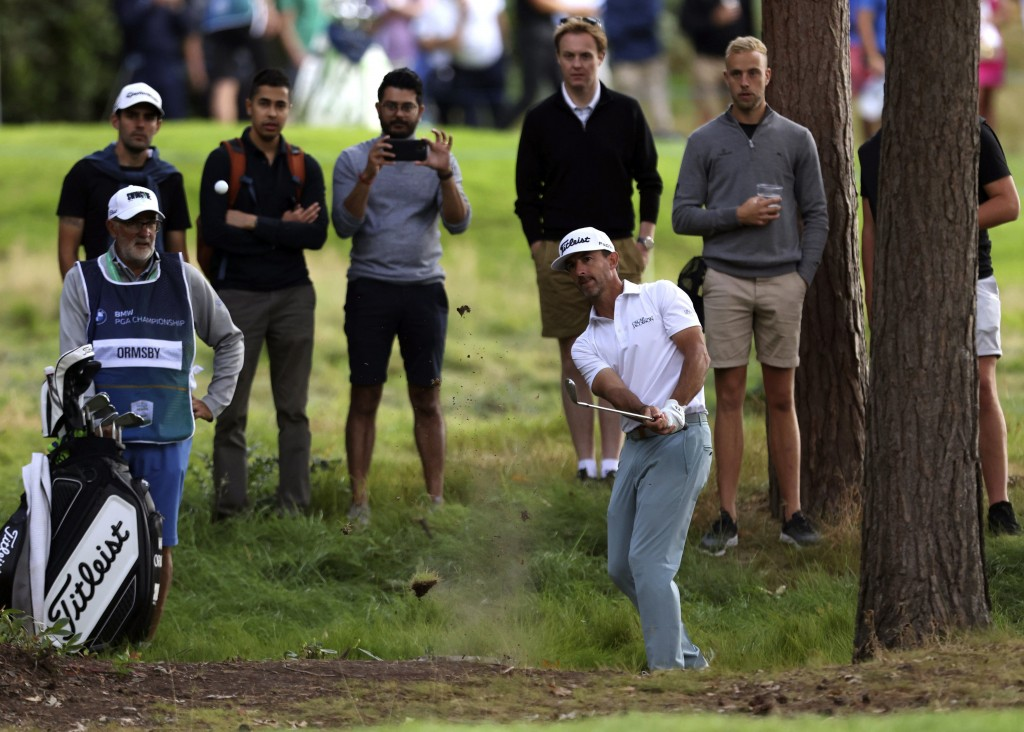 Australia's Wade Ormsby plays a shot on the 11th during day four of the PGA Championship at Wentworth Golf Club, Surrey, England, Sunday, Sept. 12, 20...