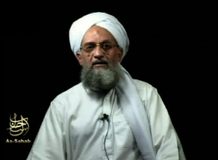 FILE - This frame grab from video shows al-Qaida's leader Ayman al-Zawahri at an unknown location, in a videotape issued Saturday, Sept. 2, 2006. Al-Q...