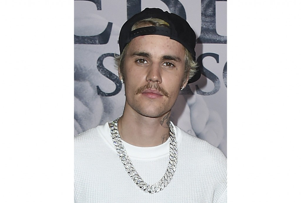 """FILE - In this Jan. 27, 2020 file photo, Justin Bieber arrives at the Los Angeles premiere of """"Justin Bieber: Seasons."""" Bieber is set to return to the..."""