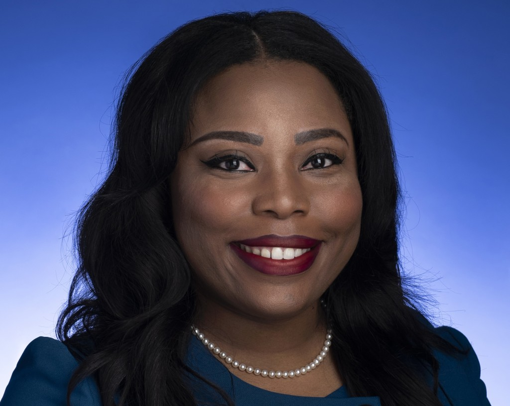FILE - This undated photo provided by the Tennessee State Senate shows Tennessee state Sen. Katrina Robinson posing for a photo in Nashville, Tenn.  R...