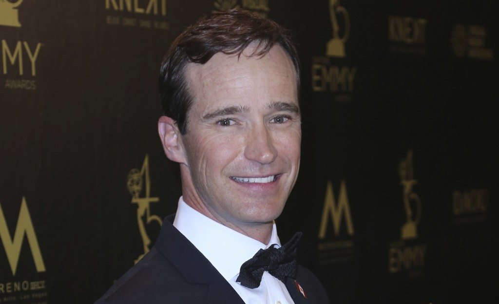 FILE - Mike Richards poses in the press room at the 45th annual Daytime Emmy Awards on April 29, 2018, in Pasadena, Calif. The very brief Richards era...