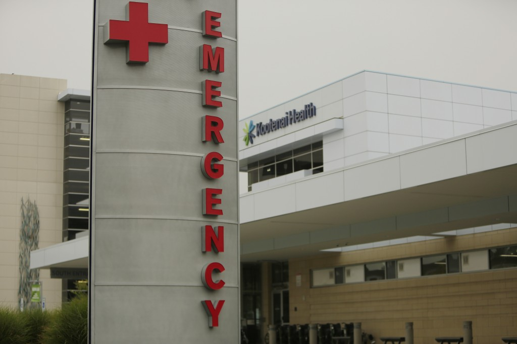 FILE - In this Sept. 10, 2021, file photo, an emergency department sign is photographed at Kootenai Health, in Coeur d'Alene, Idaho. Washington is fac...