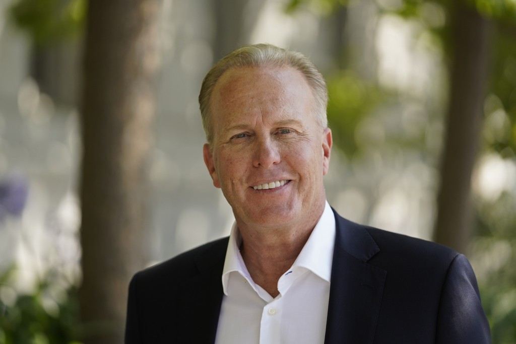 California gubernatorial candidate and former San Diego mayor Kevin Faulconer poses outside the headquarters of the California Supreme Court in San Fr...