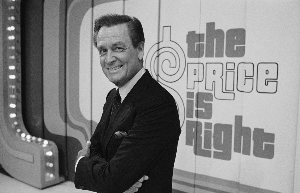 FILE - Television host Bob Barker appears on the set of his show, 'The Price is Right' in Los Angeles on July 25, 1985. The longest-running game show ...