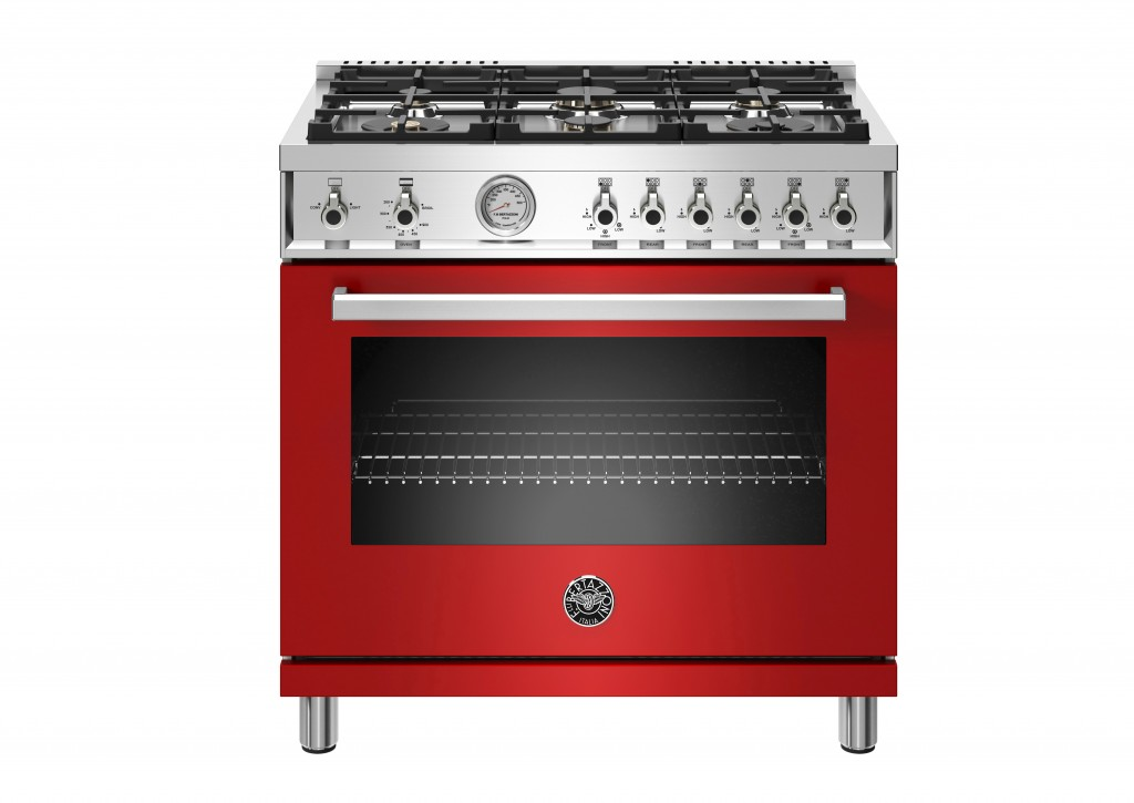 This image provided by Bertazzoni shows one of their red ranges. Rich, saturated hues are moving from accent walls and small accessories to whole room...