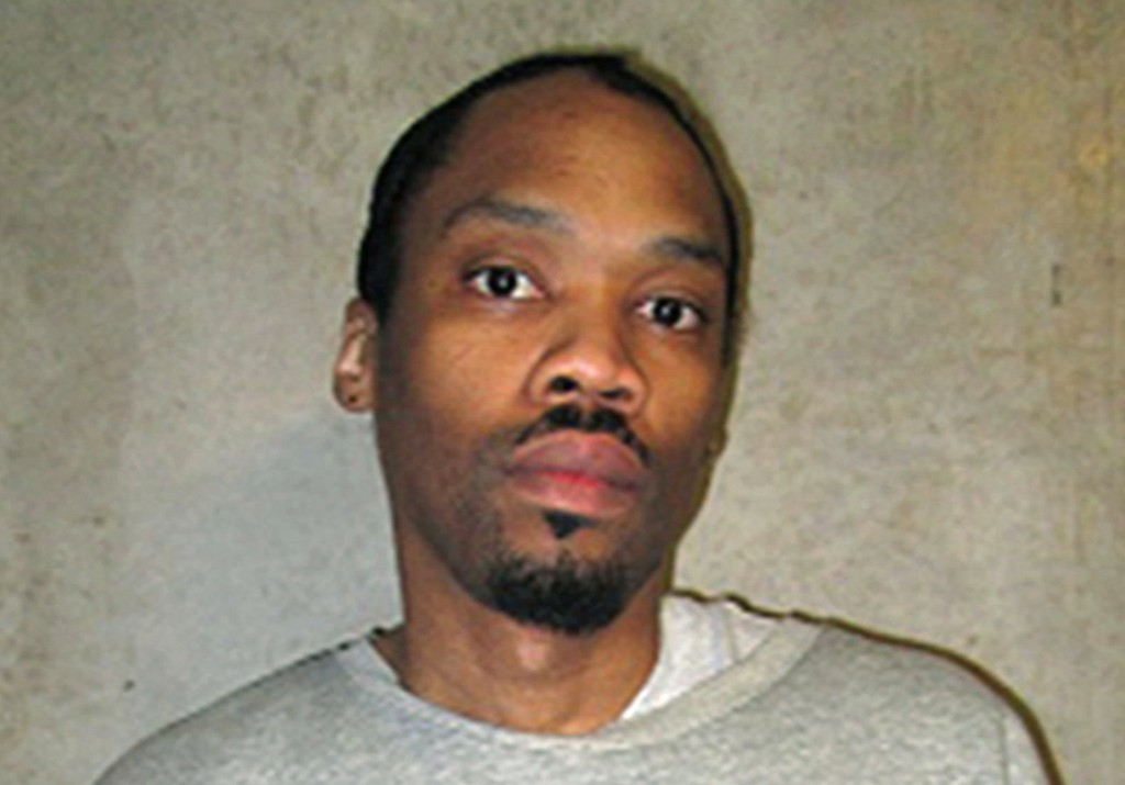 FILE - This Feb. 5, 2018, file photo provided by the Oklahoma Department of Corrections shows Julius Jones. Oklahoma's Pardon and Parole Board on Mond...