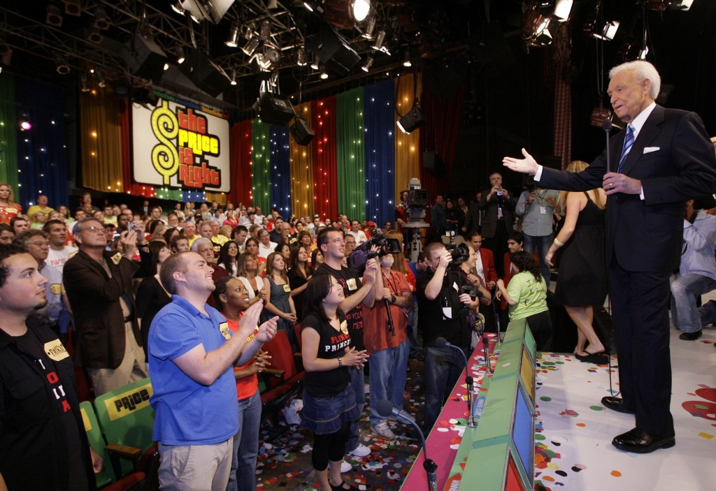 """Game show host Bob Barker, 83, receives a standing ovation as he tapes his final episode of """"The Price Is Right"""" in Los Angeles on June 6, 2007.  The ..."""