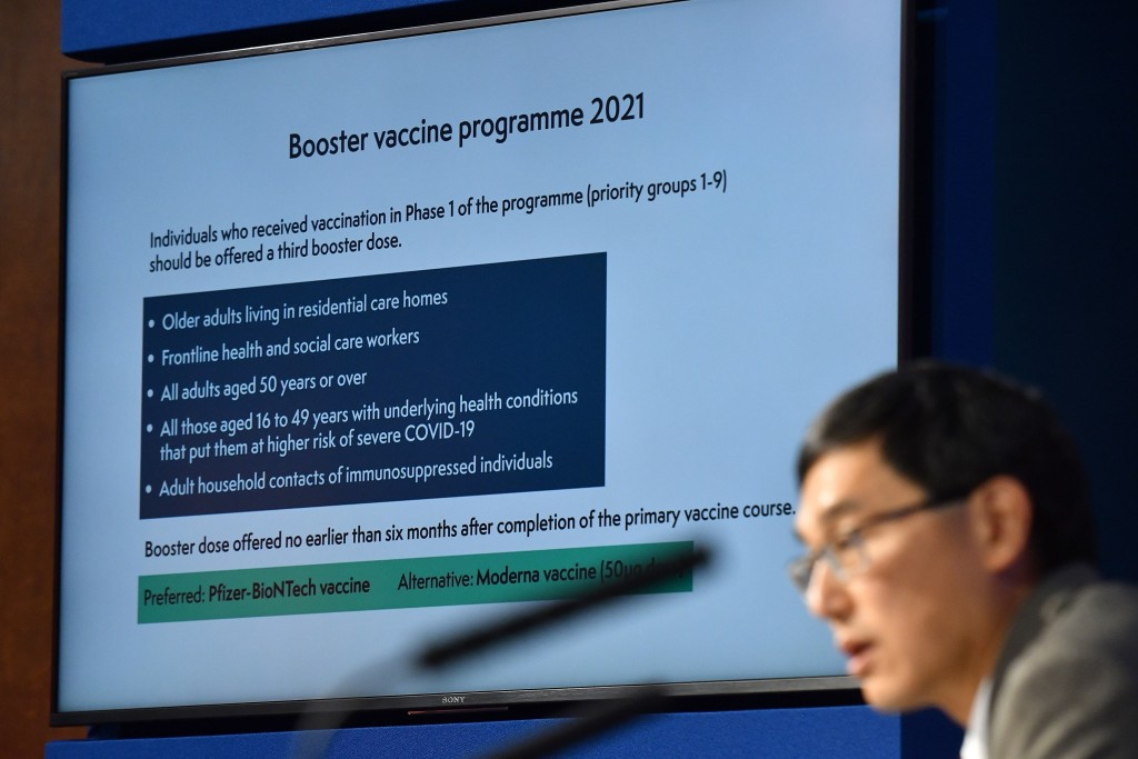 Chair of the Joint Committee on Vaccination and Immunisation (JCVI) Professor Wei Shen Lim attends a media briefing on the latest COVID-19 update at D...