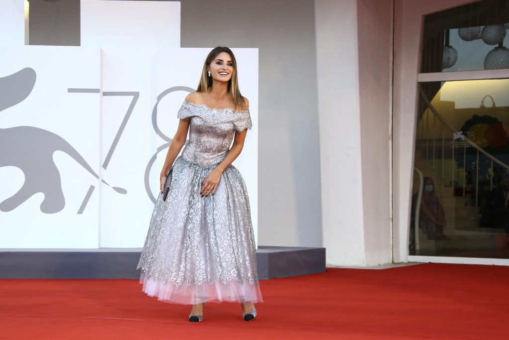 FILE - In this Sept, 11, 2021 file photo Penelope Cruz poses for photographers upon arrival at the closing ceremony of the 78th edition of the Venice ...