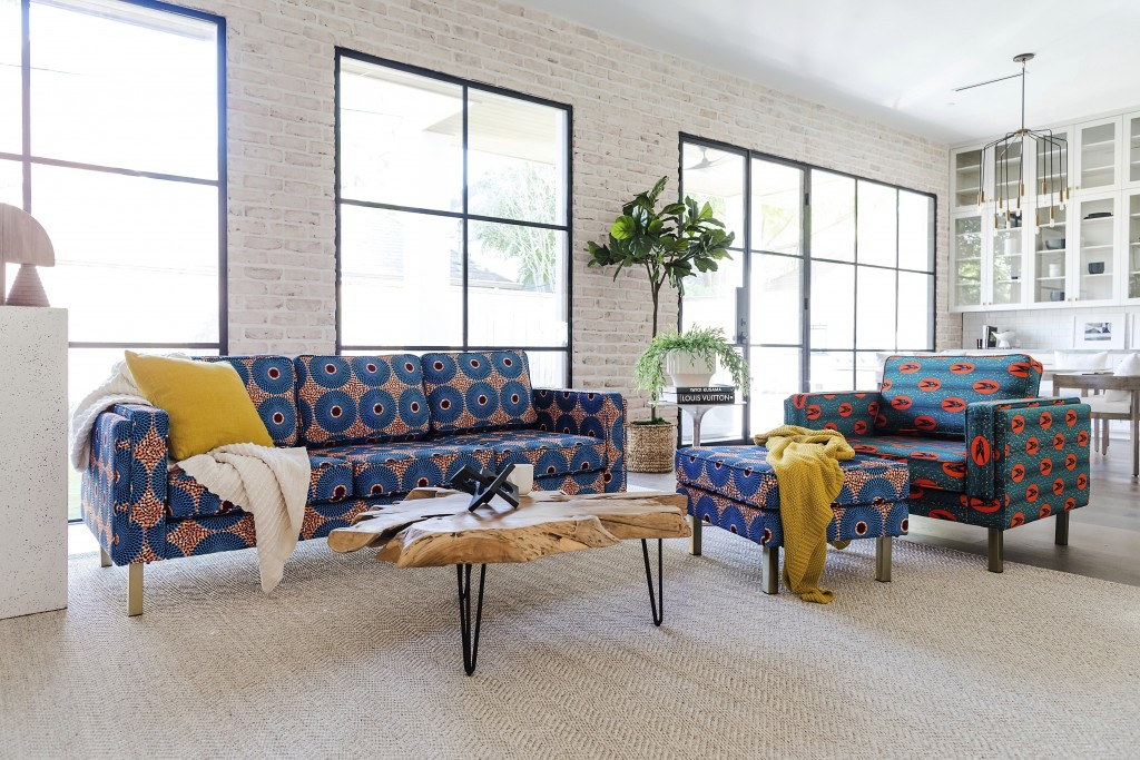 This photo provided by Albany Park shows the Ekaabo seating collection. Albany Park's founder Darryl Sharpton drew on his Nigerian heritage to create ...
