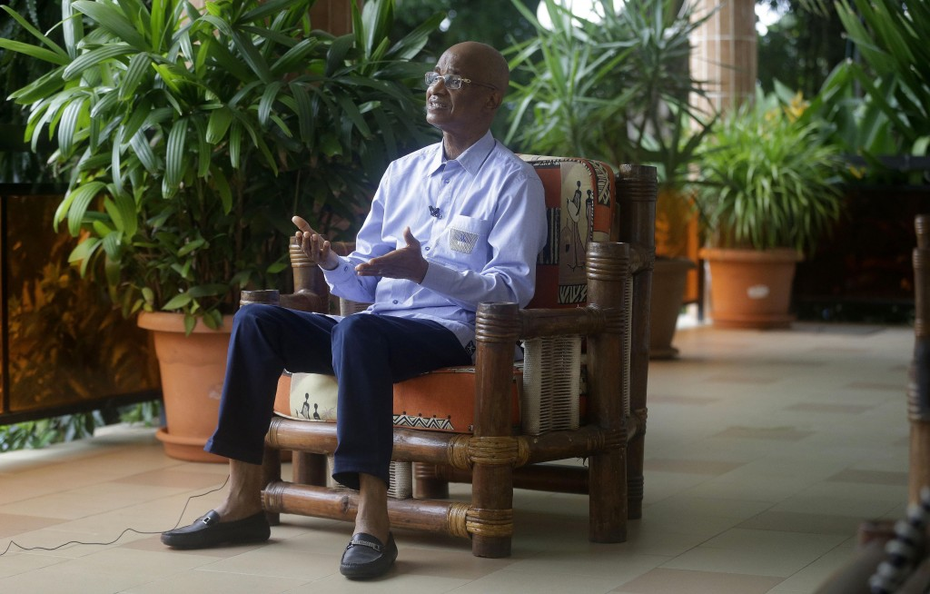 Guinea's Opposition Leader and former Presidential Candidates Cellou Dalein Diallo, speaks to The Associated Press during an interview in Conakry, Gui...