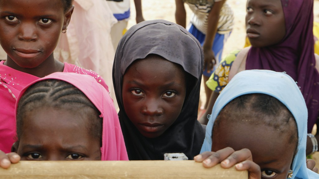 Displaced children attend class in Dori town, Burkina Faso, Saturday Aug. 7, 2021. The Norwegian Refugee Council said Burkina Faso's slow and insuffic...