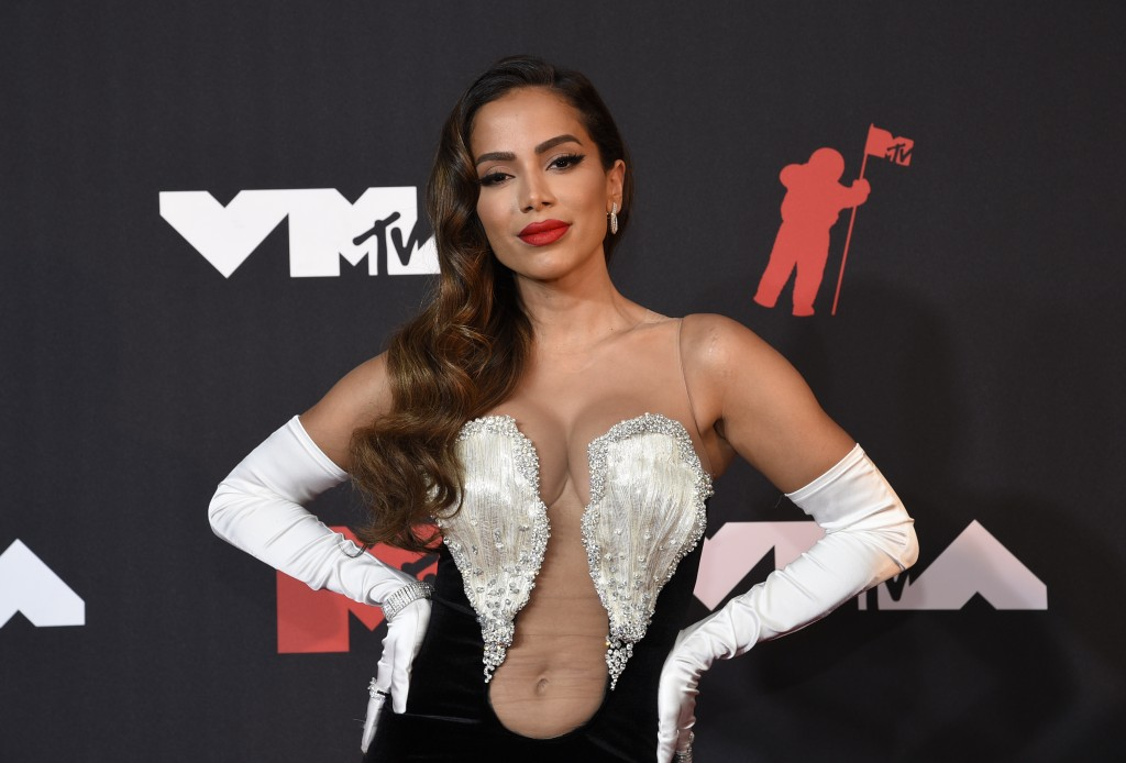 Anitta arrives at the MTV Video Music Awards at Barclays Center on Sunday, Sept. 12, 2021, in New York. (Photo by Evan Agostini/Invision/AP)