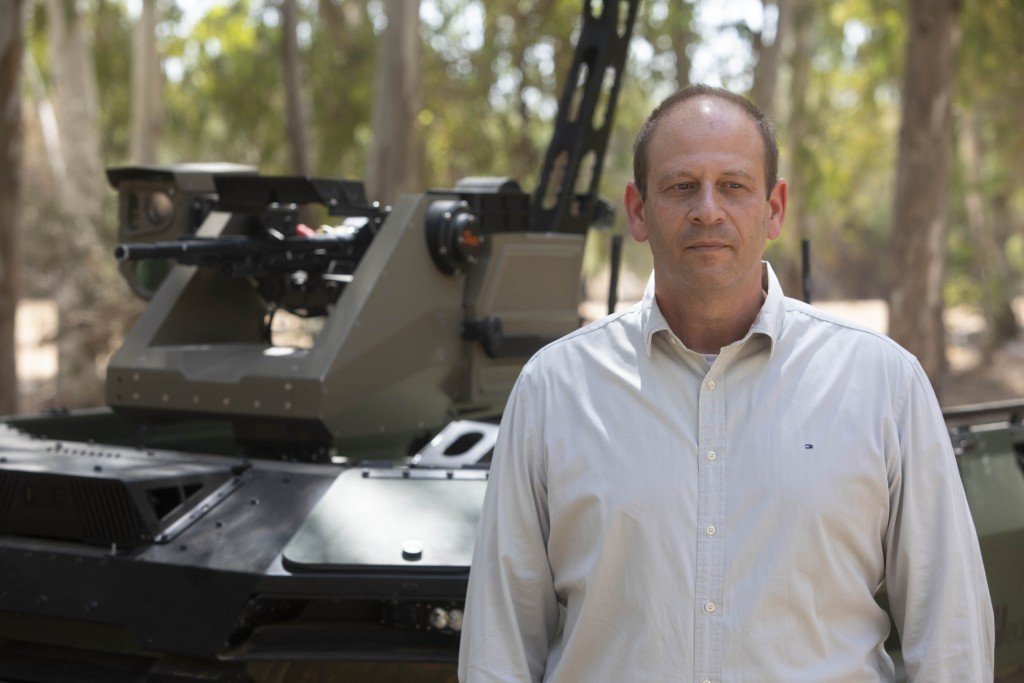 Deputy head of Israel Aerospace Industries autonomous systems division, Rani Avni, speaks during an interview with The Associated Press in an IAI faci...