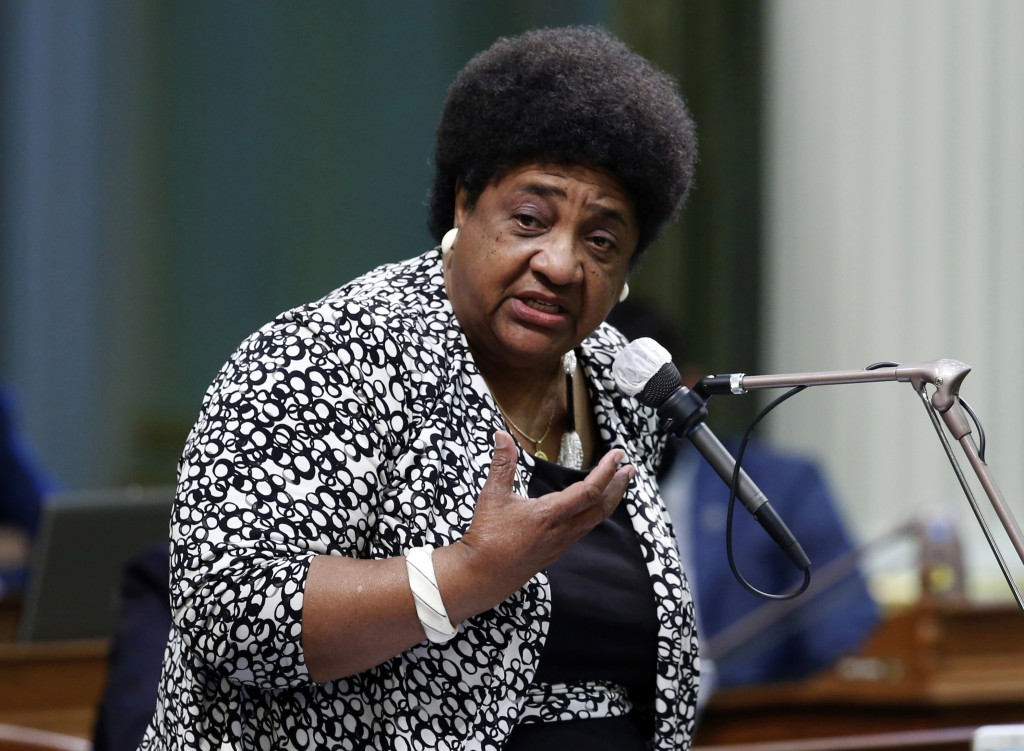 FILE - In this June 10, 2020, file photo, Assemblywoman Shirley Weber speaks at the Capitol in Sacramento, Calif. Weber said cocnerns about California...