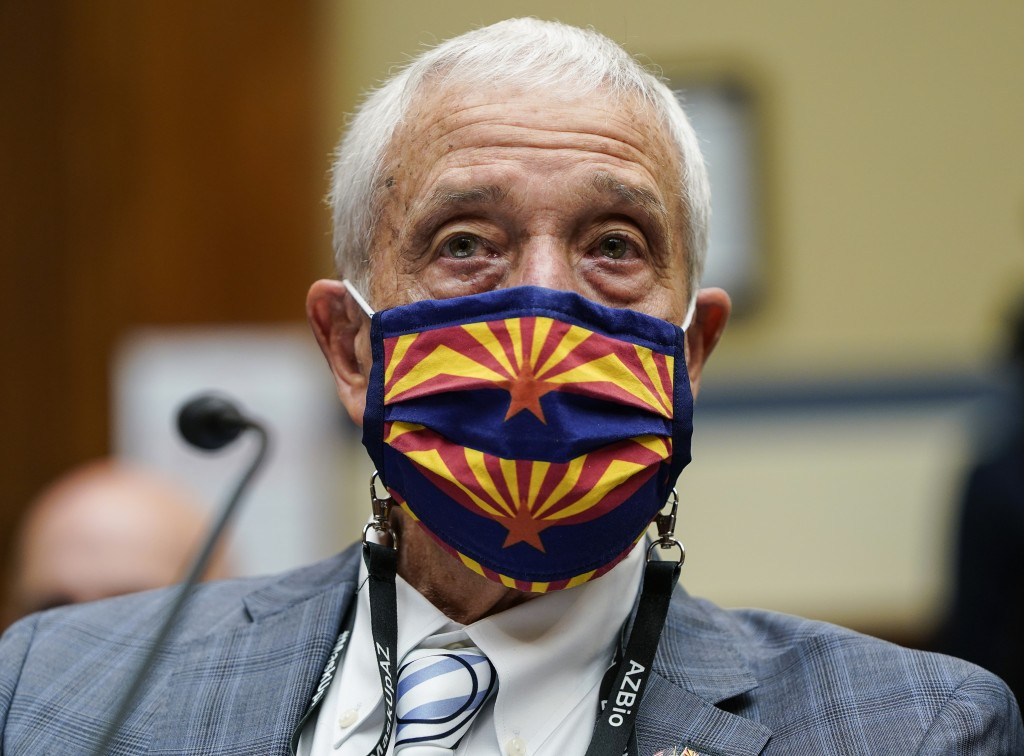Maricopa County Board of Supervisors Chairman Jack Sellers testifies during a House Oversight and Government Reform Committee hearing to examine a Rep...