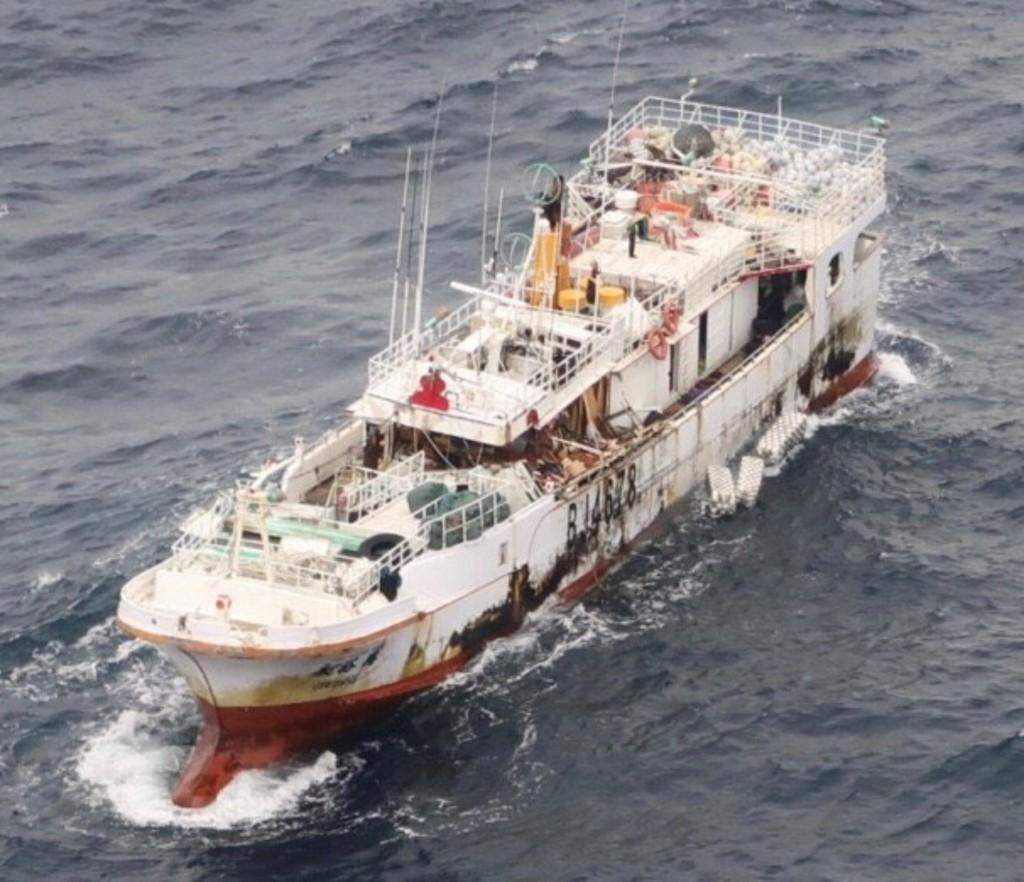 漁船「永裕興18號」失聯,10名船員下落不明。圖為1月2日空照圖。